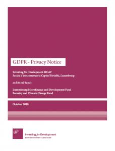GDPR - Privacy Notice